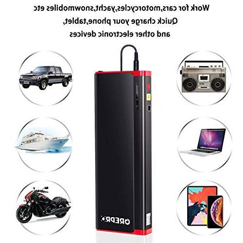 GREPRO Car Starter Kit 18000mAh Car Battery 12V Portable , Power with LED Light and Shell