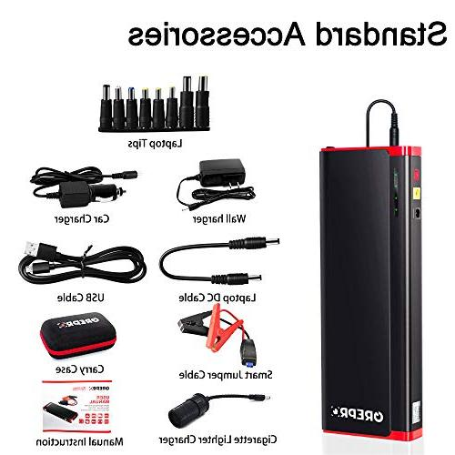 GREPRO Jump Kit 18000mAh Car Battery Charger, Portable Booster , Light Aluminum Alloy Shell