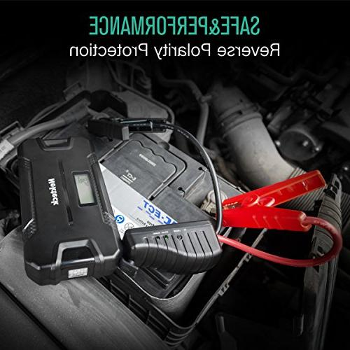 Portable Power Battery 500A Peak with 12000mAh - Emergency Jump for Sedan Boat and More