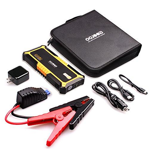 GOOLOO 1500A SuperSafe Jump Starter Quick Charge Battery Booster Power Delivery 60W Type-C with Dual USB