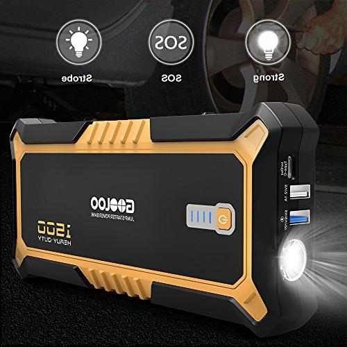 Peak SuperSafe Car Jump Starter Quick Power Delivery Type-C Portable Phone Charger with USB