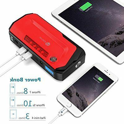 Batteries & IClever 600A Peak Car Starter (up