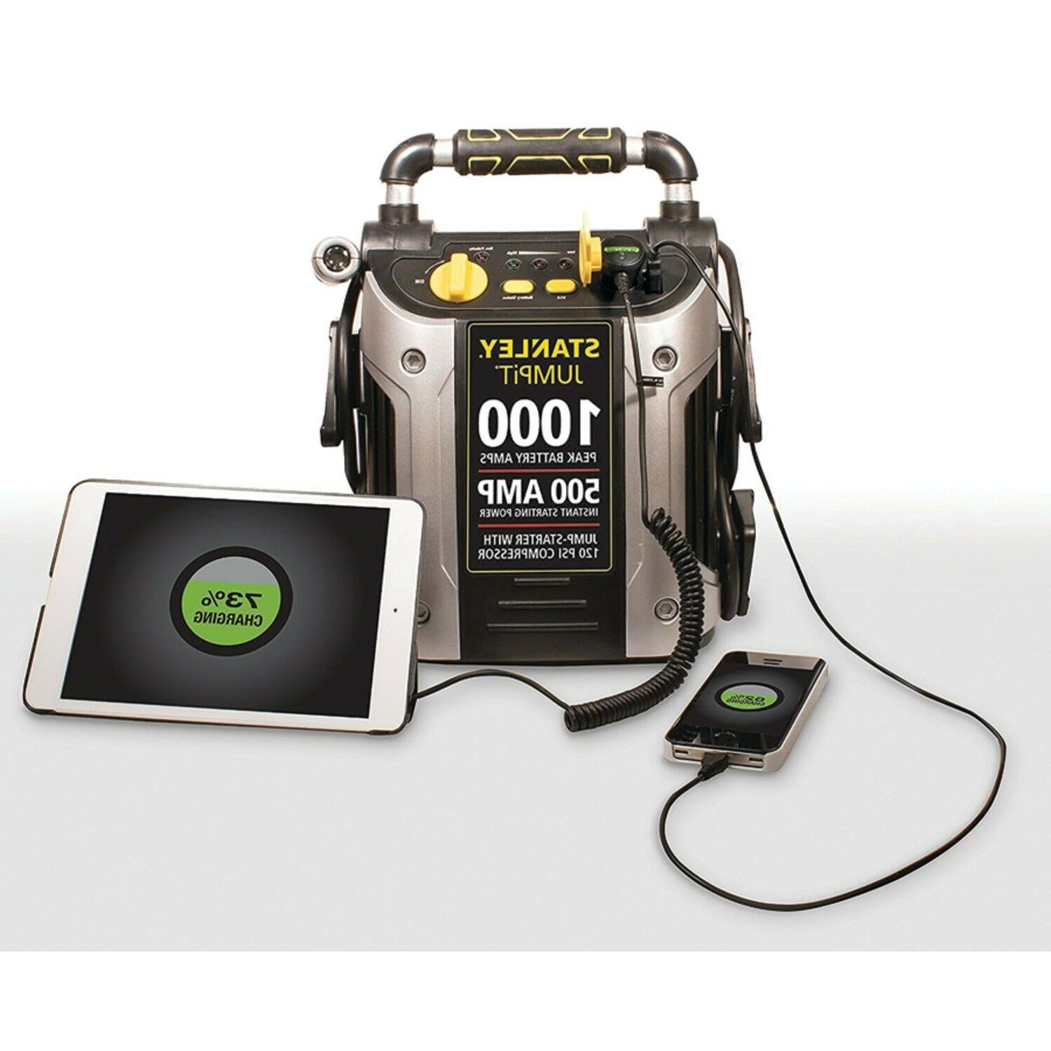 Stanley Starter Air Compressor Portable Car Charger Booster