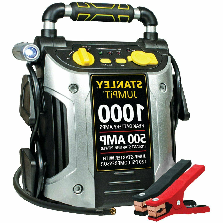 battery jump starter air compressor portable car