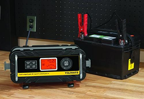 STANLEY 15 Amp Bench Battery Charger with 40 Amp Engine Start and