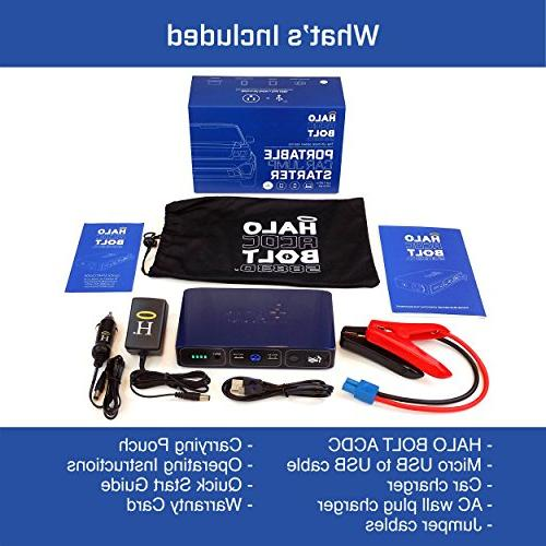 Halo Bolt 58830 Mwh Portable Car Jump Starter AC and Charger Rose