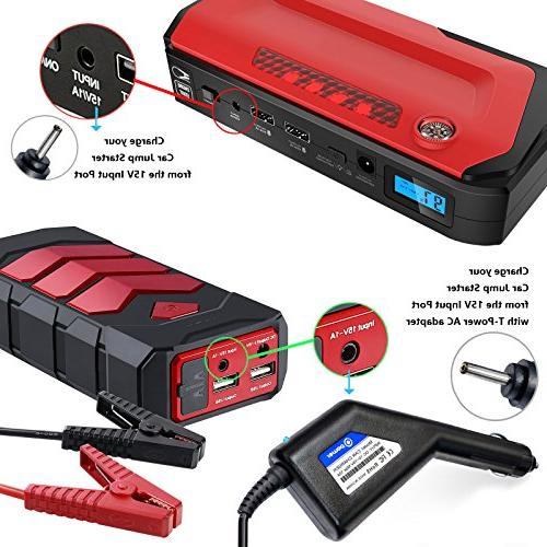 T 15V Car Charger Compatible Jump Starter 450A 600A 800A 1000A Car Jump Auto BEATIT Anker GOOLOO Rugged Geek & More