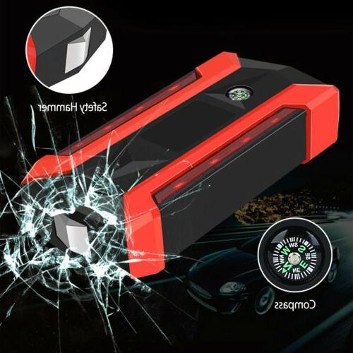 Car Jump Starter Peak 20000mAh Portable Charger Light