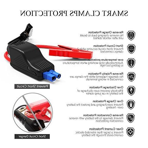 Beatit 18000mAh 12V Jump Starter Smart Jumper Cables Booster Power Pack