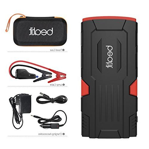 Beatit 18000mAh Jump Starter Jumper Cables Auto Booster
