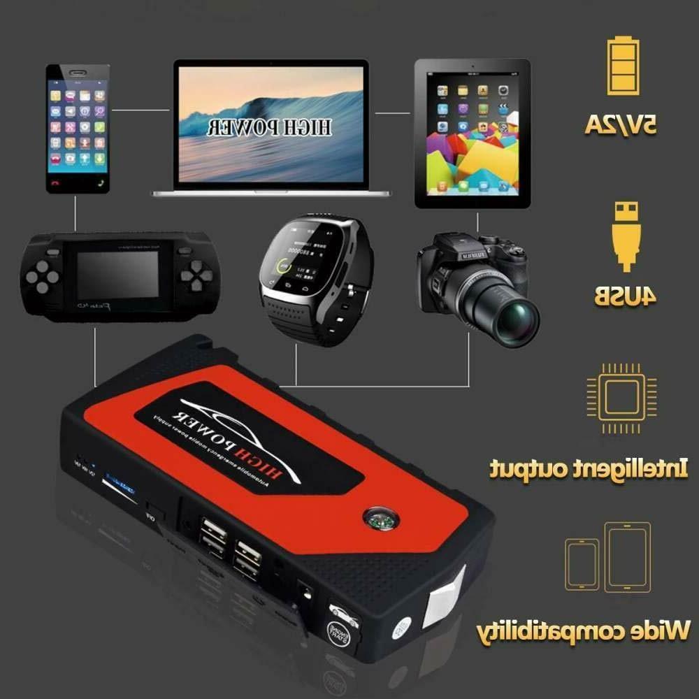 69800mAh 12V Jump Starter Portable Bank Battery Box Clamp