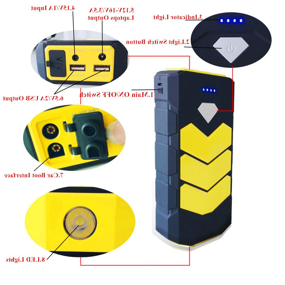 GKFLY Emergency 20000mAh Starting Device Battery <font><b>Charger</b></font> Car <font><b>Jump</b></font> <font><b>Starter</b></font> Bank <font><b>Charger</b></font> LED