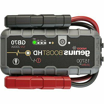 NOCO Genius GB70 Boost HD 2000A UltraSafe Lithium Jump Start