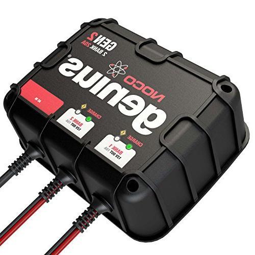 NOCO Genius Amp 2-Bank On-Board Battery