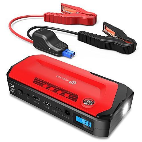 iClever 800A Peak 18000mAh Portable Jump Starter  Auto Batte