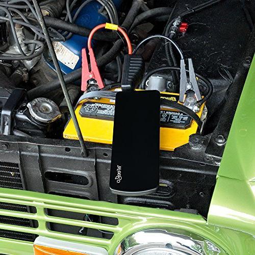 WEEGO JS18 Starter 2100 Peak 600 Amps Lithium Power USB Charging 100 Lumen LED