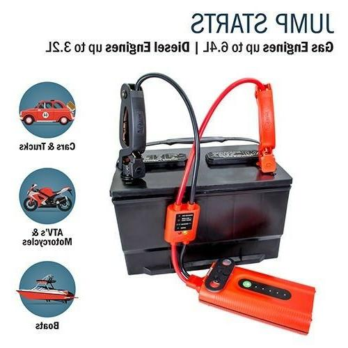 Jump Starter Portable Source Tactical Light