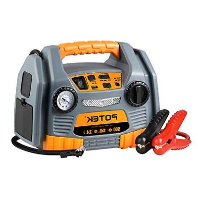 jump starter source with 150 psi tire