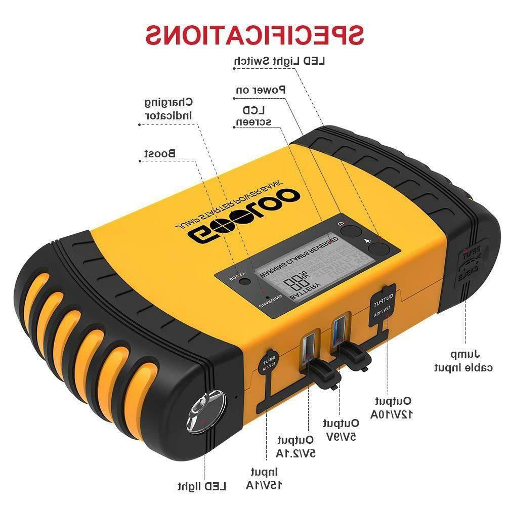 Peak 20800mAh Portable Jump Starter