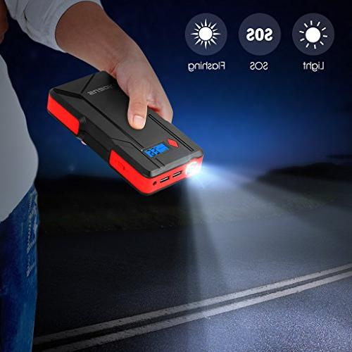 SUAOKI P6 Car Jump Starter Pack with Port Power