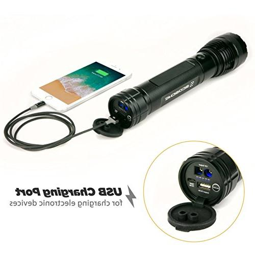 Torch Portable Lumen Flashlight Jump 400A Battery with USB Port in Vehicles Motorcycles