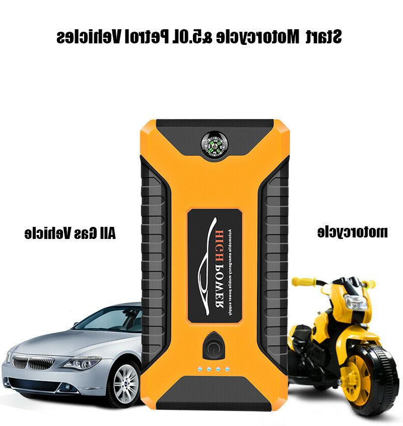 Portable Car Jump Starter 20000mAh 12V Engine Battery Charge