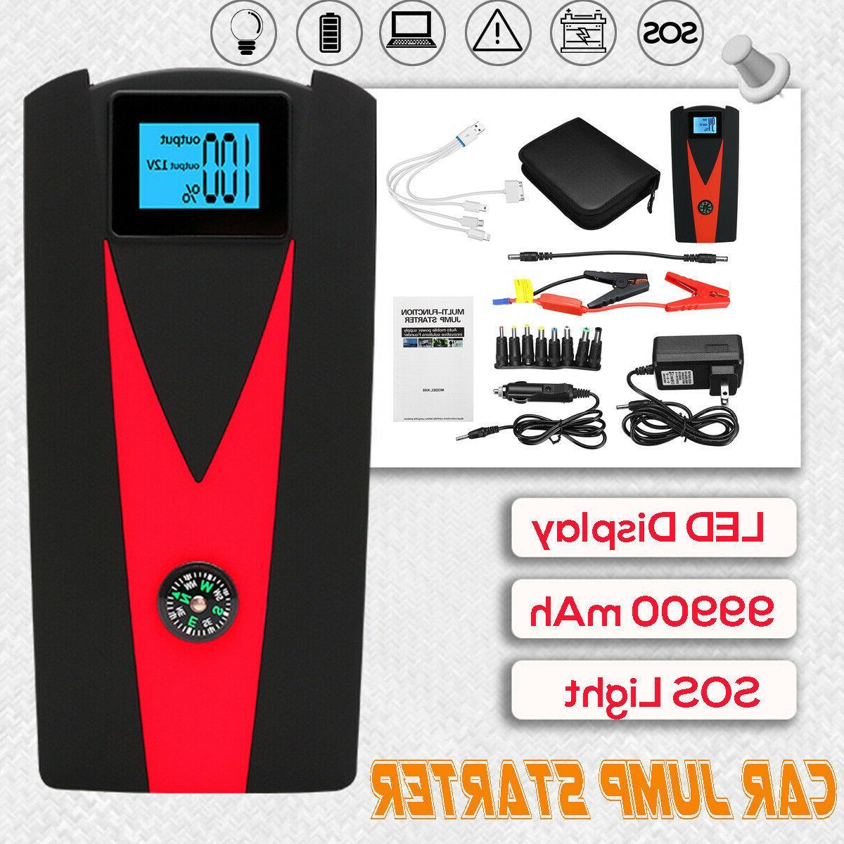 12V 68800mAh Portable Battery Jump Starter Air Compressor Ca