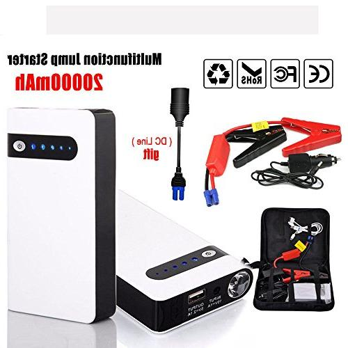 KKmoon 20000mAh Jump Starter Vehicle Battery Charger 12V Emergency Battery Charger