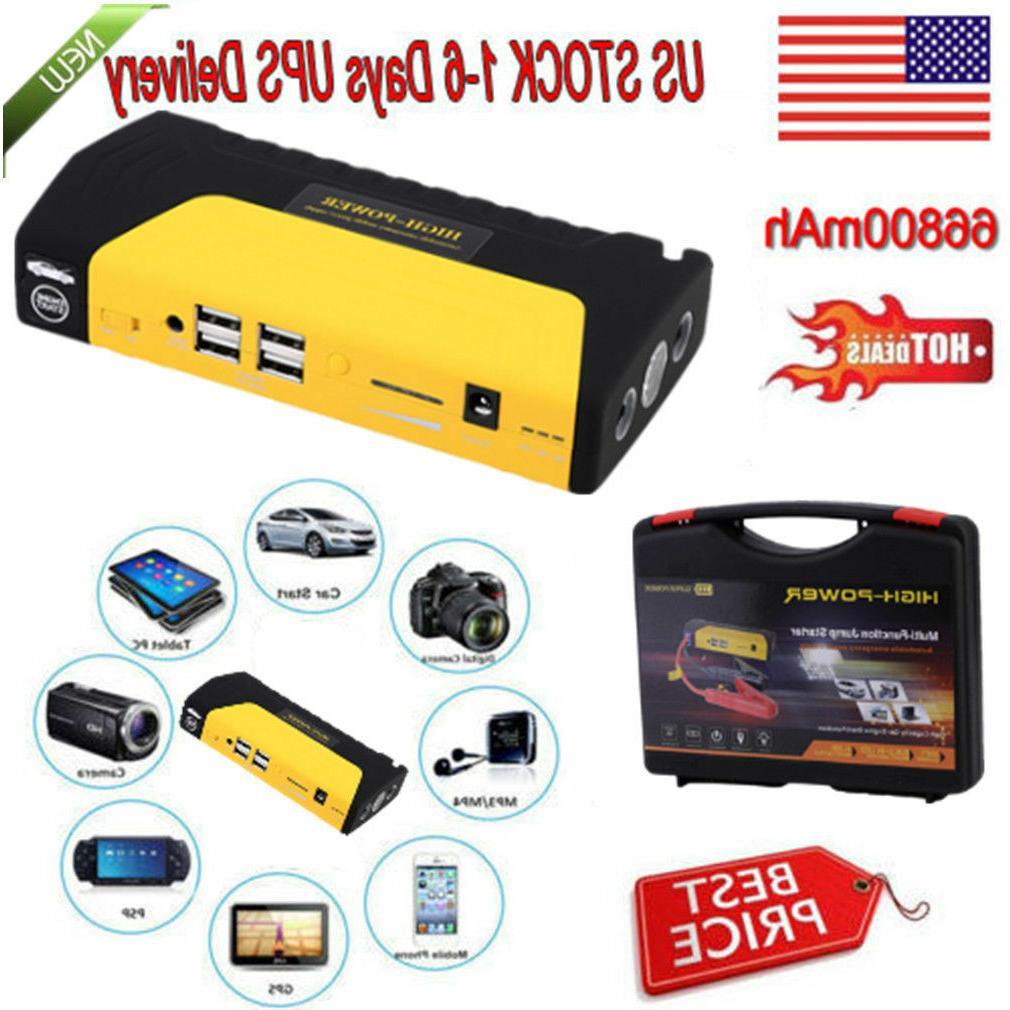 Portable Mini Slim 68800mAh USB Jump Starter 12V Battery Bank