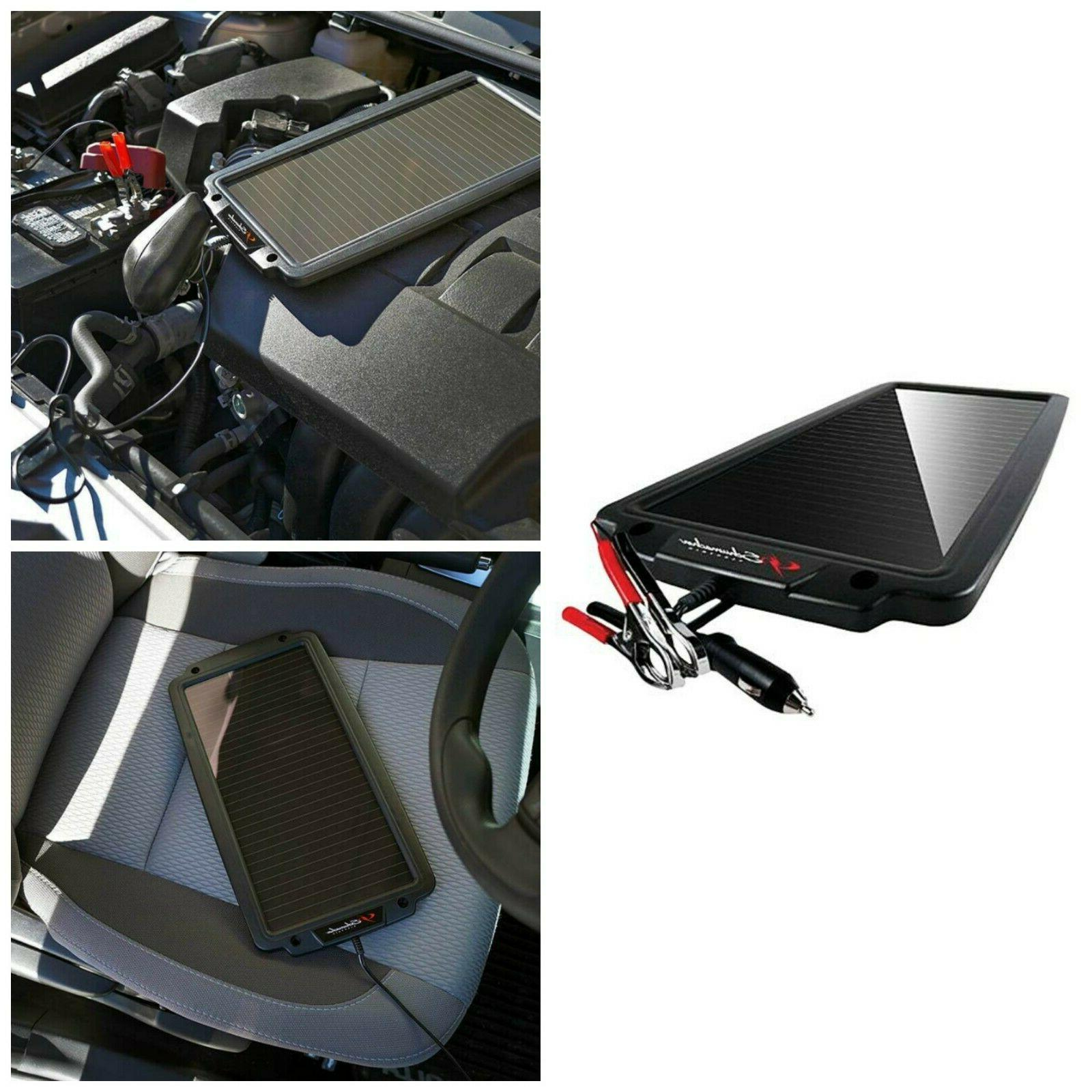 Solar Battery Maintainer Charger Powered 12V Car Auto Boat M