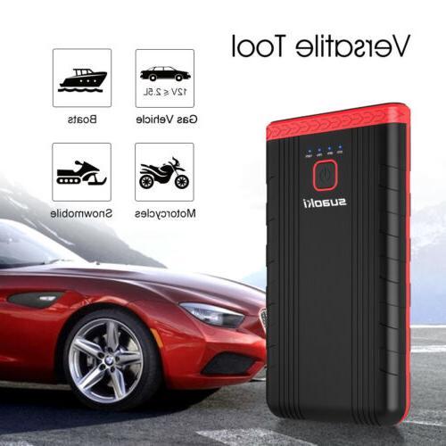 Suaoki U3 Car Phone Charger w/ Clamps