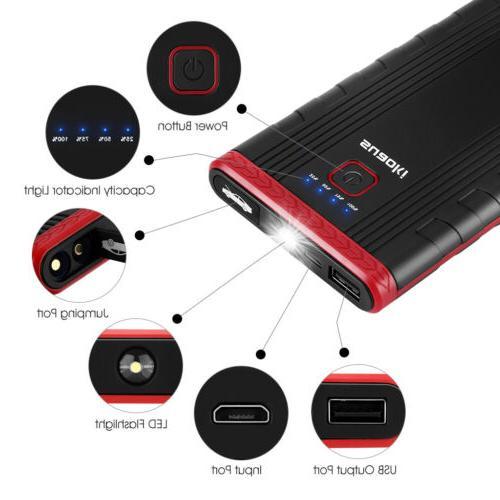 Suaoki U3 Jump Starter Car Battery Booster & Phone Charger w
