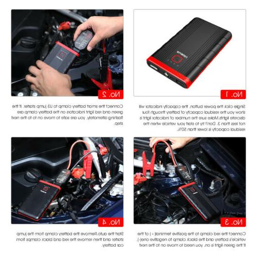 Suaoki U3 Car Battery Phone Charger Clamps