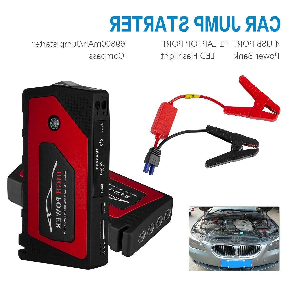 12V Portable USB Battery Clamp 600A 69800mah