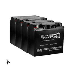 Mighty Max 4 Pack - 12V 18AH SLA Battery for Die Hard Portab