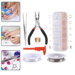 Jewellery Making Repairing Kit Gold Silver Open Jump Rings W