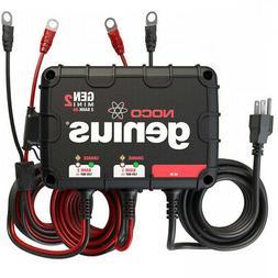 Noco GENM2 2-Bank 8-Amp Waterproof On-Board Marine Battery C