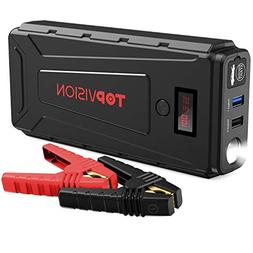 Portable Car Jump Starter, TOPVISION 2200A Peak Car Power Ba