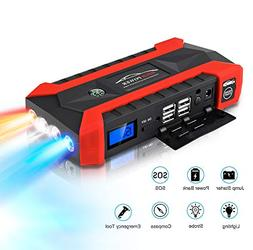 Vovomay Power Bank -89800mAh 12V LCD 4 USB Car Jump Starter