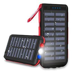 Power Bank 25000mAh Huge Capacity Solar Portable Charger Wat