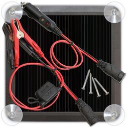 Solar Battery Charger 12V 6V Car Auto Motorcycle Boat ATV Ma