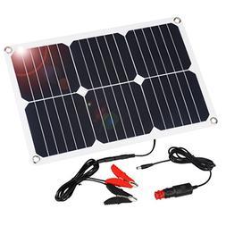 Suaoki 18V 12V 18W Solar Car Battery Charger Portable SunPow