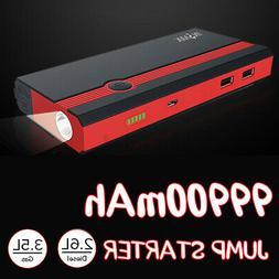US 99900mAh 12V Car Jump Starter Portable B Power Bank Batte