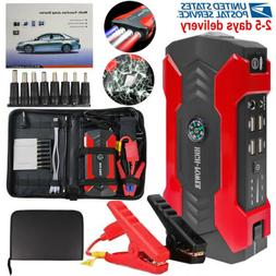 12V Car Jump Starter Portable USB Power Bank Battery Booster